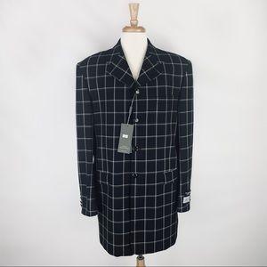 VALENTINO NWT Mens Checkered Blazer 52 Long